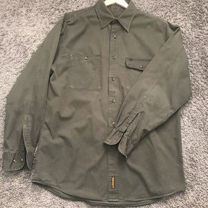 Men's Timberland Army Green Long Sleeve Shirt